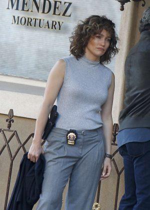 Jennifer Lopez on 'Shades of Blue' set in Bayridge