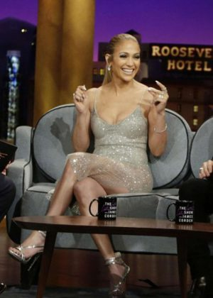 Jennifer Lopez on 'The Late Late Show with James Corden' in Los Angeles