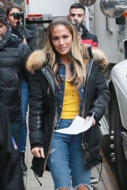 Jennifer Lopez - On the set of 'Hustlers' in New York City