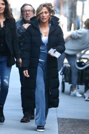 Jennifer Lopez on the set of 'Hustlers' in NYC