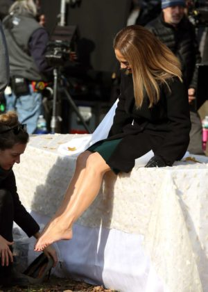 Jennifer Lopez - On the set of 'Second Act' in NYC