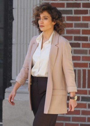 Jennifer Lopez - On the set of 'Shades of Blue' in Astoria