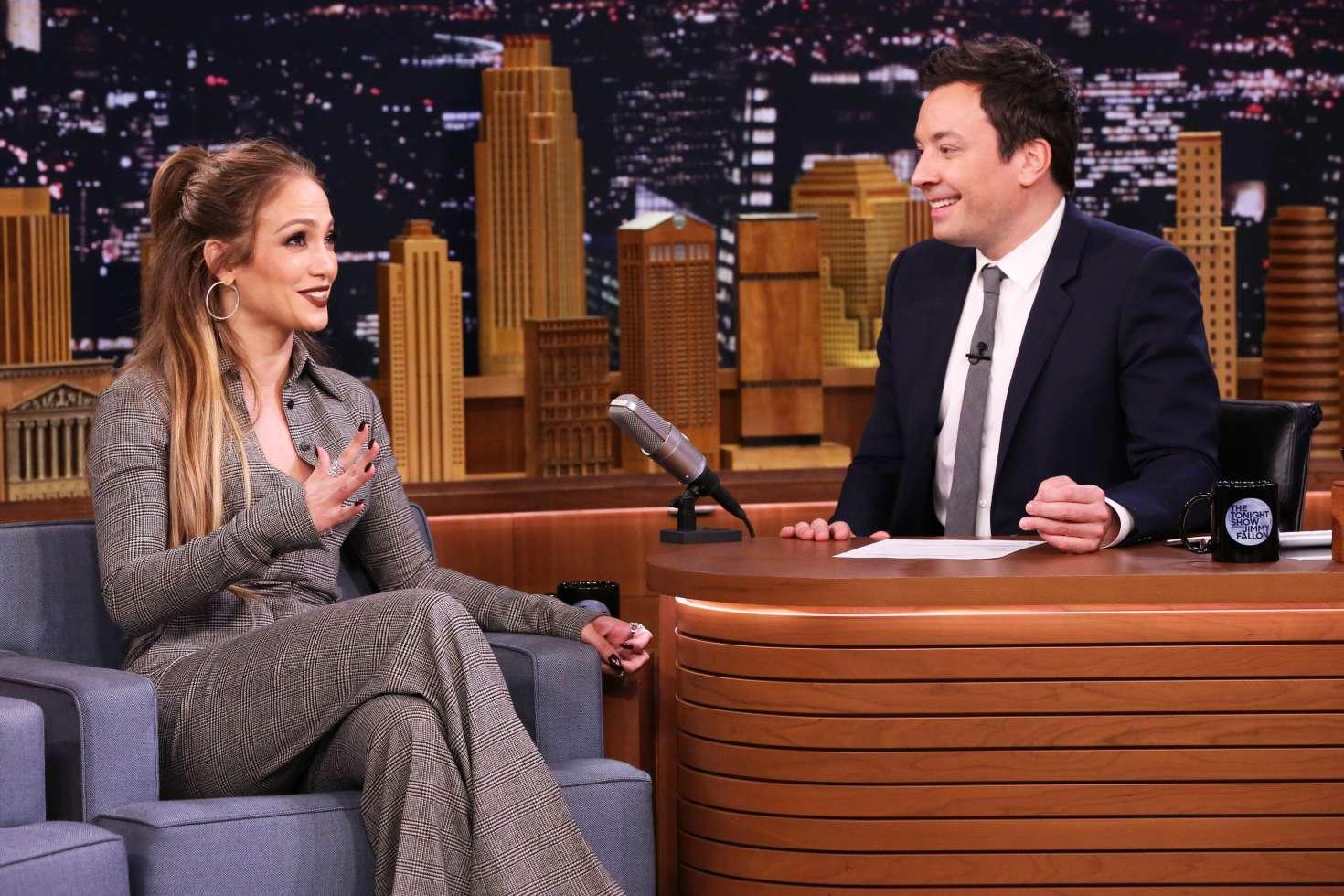 Jennifer Lopez 2017 : Jennifer Lopez on The Tonight Show Starring Jimmy Fallon -06