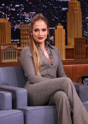 Jennifer Lopez on 'The Tonight Show Starring Jimmy Fallon' in NY