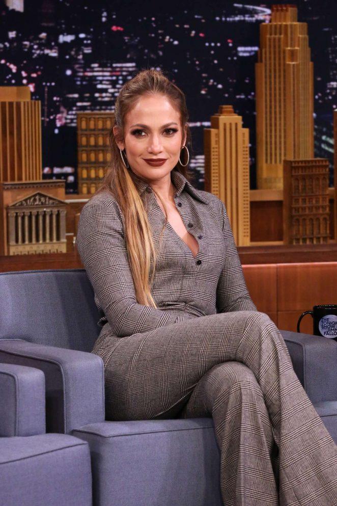 Jennifer Lopez on 'The Tonight Show Starring Jimmy Fallon' in NY