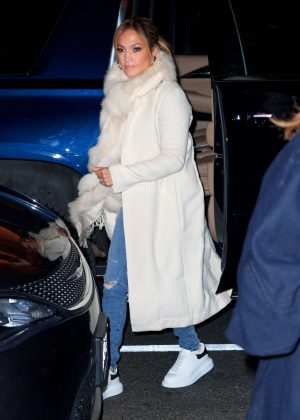 Jennifer Lopez - Out for dinner with Alex Rodriguez in New York