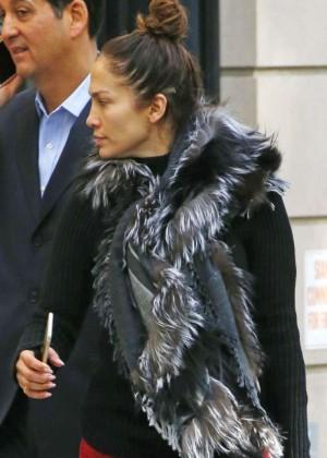 Jennifer Lopez out in New York
