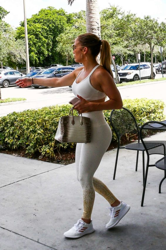 Jennifer Lopez - Out with a friend for errands in Miami