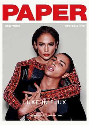 Jennifer Lopez - Paper Magazine Cover (September 2015)