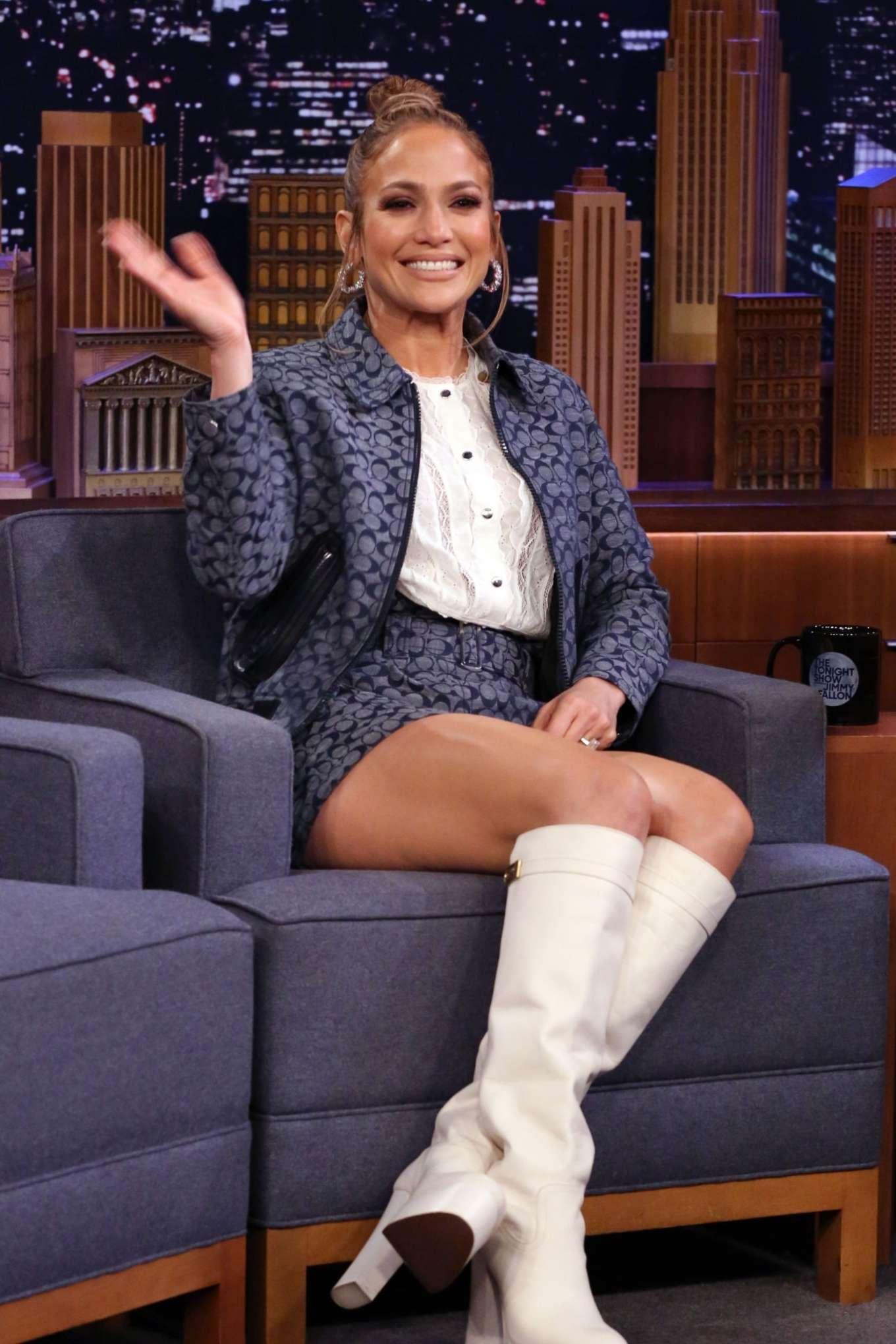 Jennifer Lopez - Pictured on 'The Tonight Show Starring Jimmy Fallon' in NYC