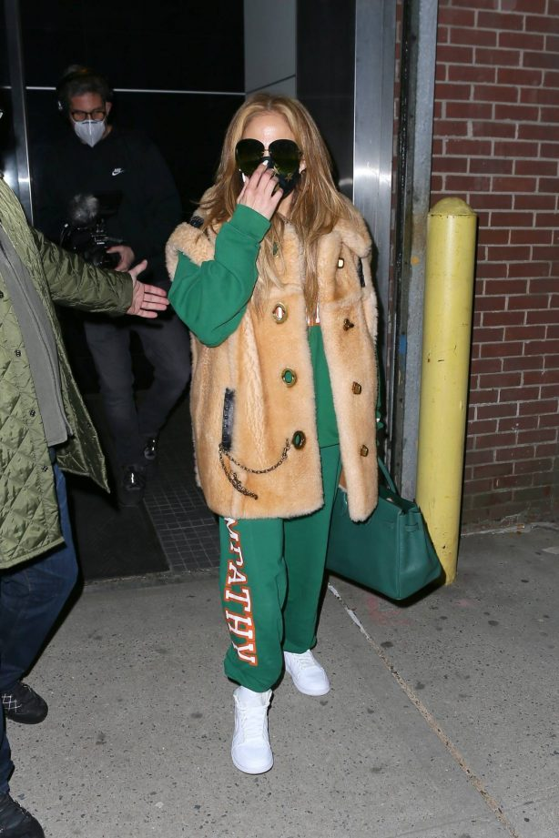 Jennifer Lopez - Seen after her New Year's Eve performance rehearsal in New York