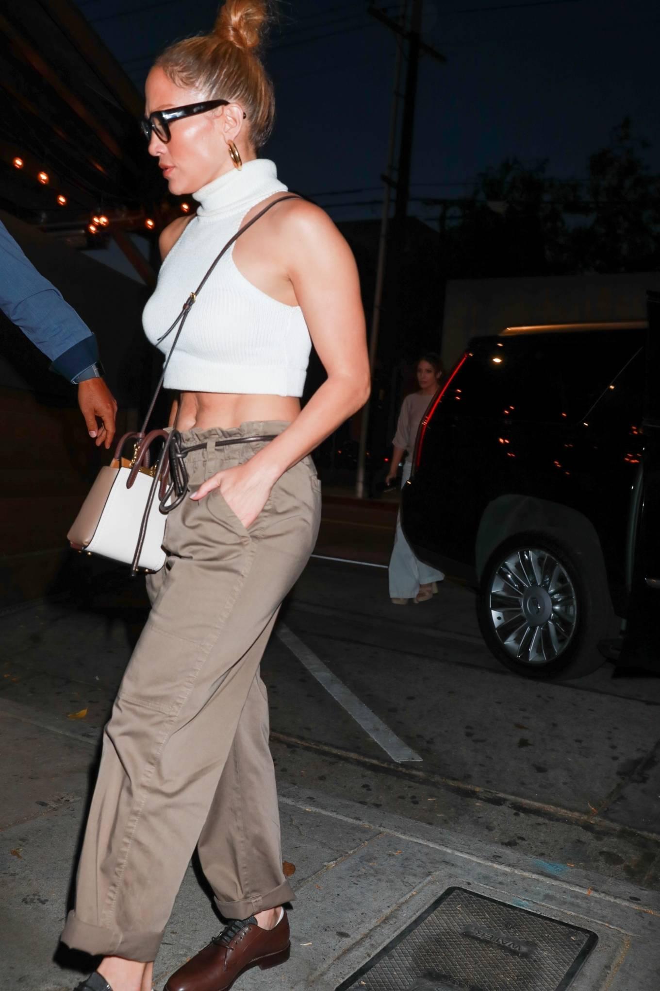 Jennifer Lopez 2021 : Jennifer Lopez – seen arriving at Craigs Restaurant in West Hollywood-03