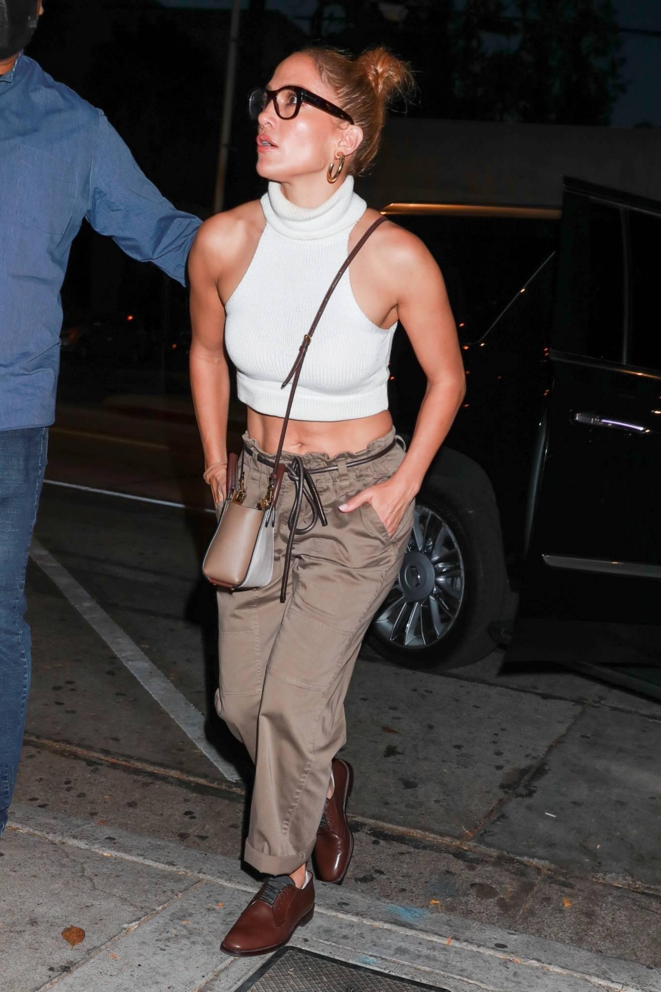 Jennifer Lopez - seen arriving at Craig's Restaurant in West Hollywood