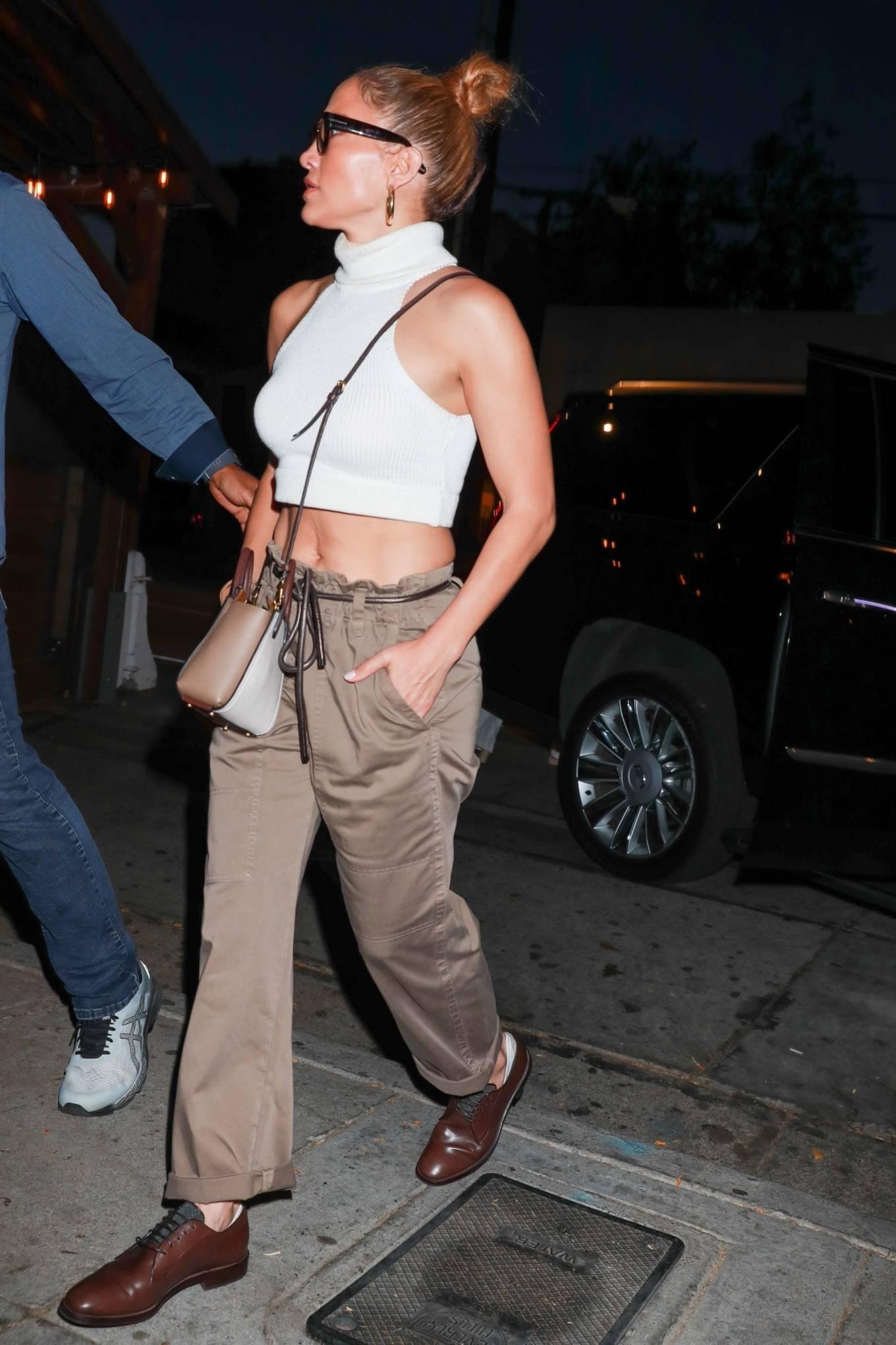 Jennifer Lopez 2021 : Jennifer Lopez – seen arriving at Craigs Restaurant in West Hollywood-08