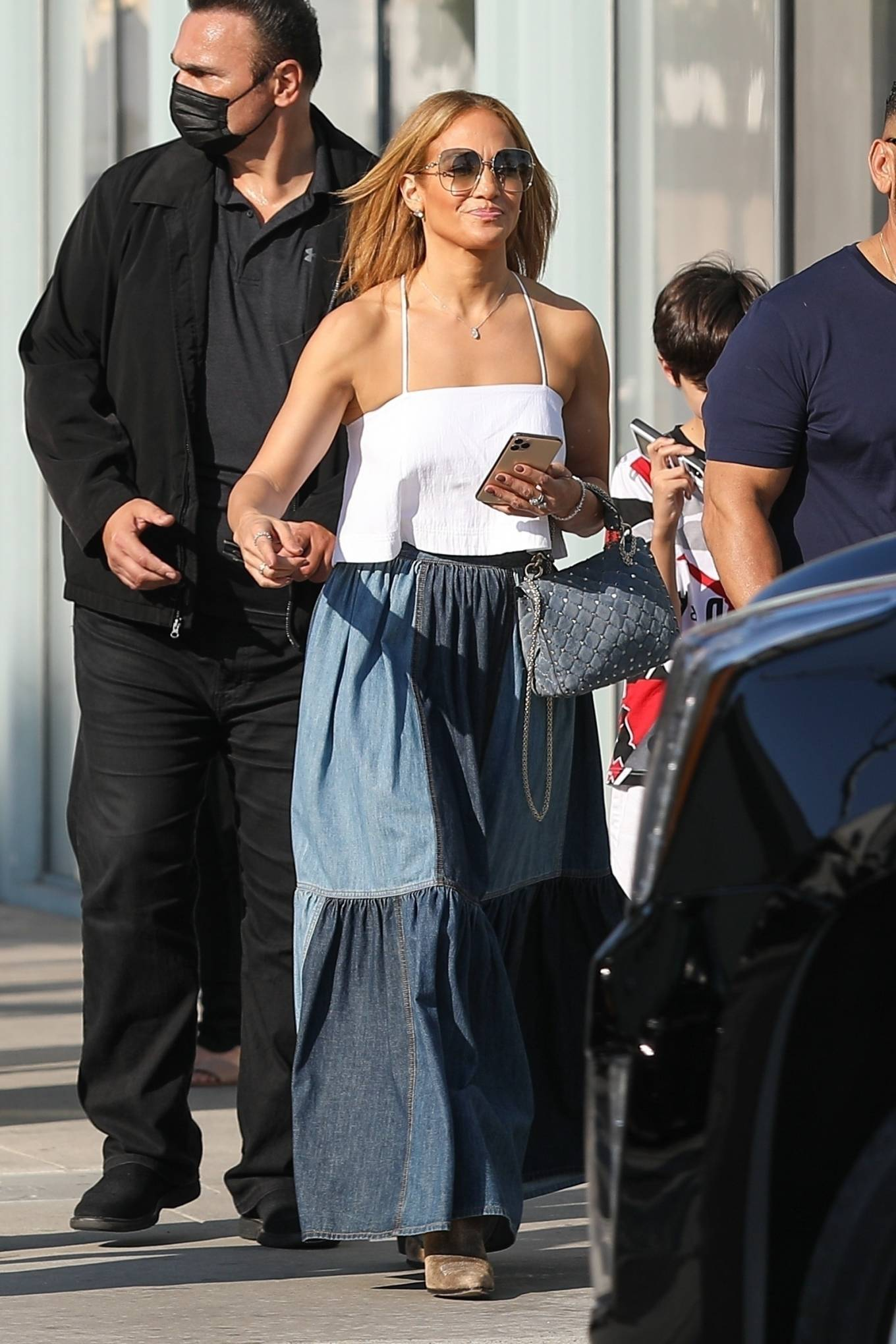 Jennifer Lopez 2021 : Jennifer Lopez – Seen with her son Max and manager Benny Medina in Beverly Hills-05