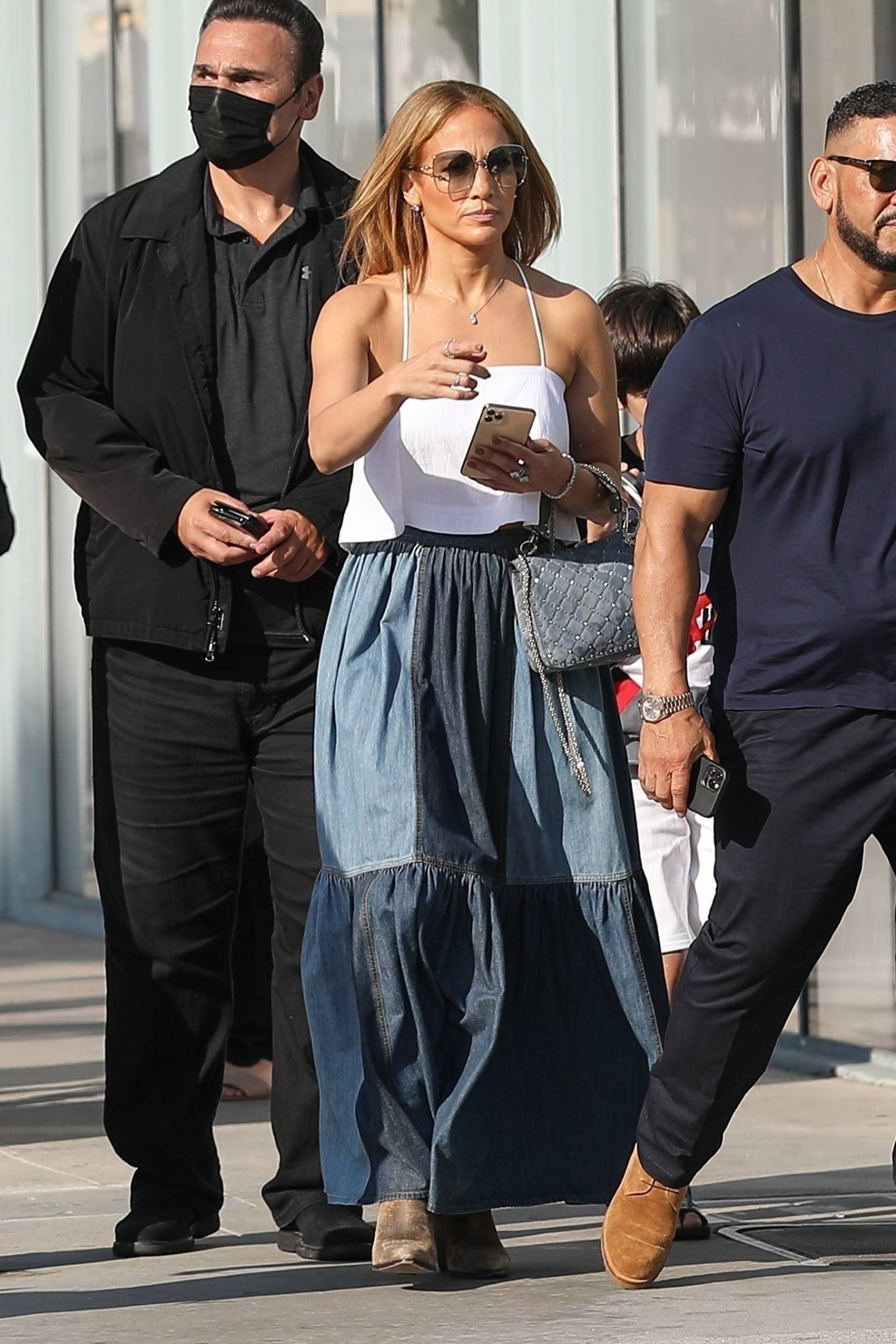 Jennifer Lopez 2021 : Jennifer Lopez – Seen with her son Max and manager Benny Medina in Beverly Hills-06