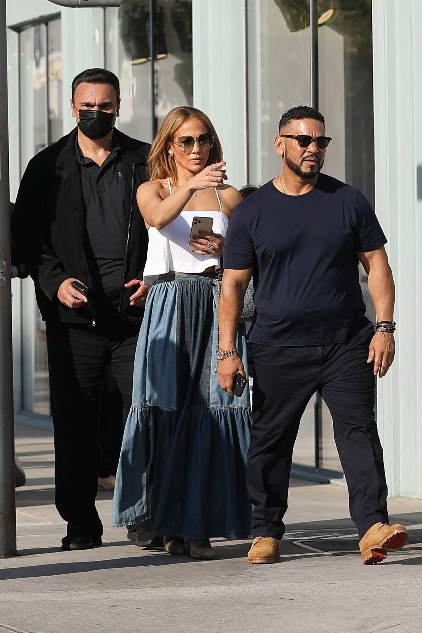 Jennifer Lopez 2021 : Jennifer Lopez – Seen with her son Max and manager Benny Medina in Beverly Hills-09
