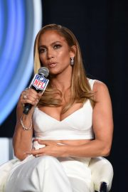 Jennifer Lopez - Super Bowl LIV Halftime Show Press Conference in Miami