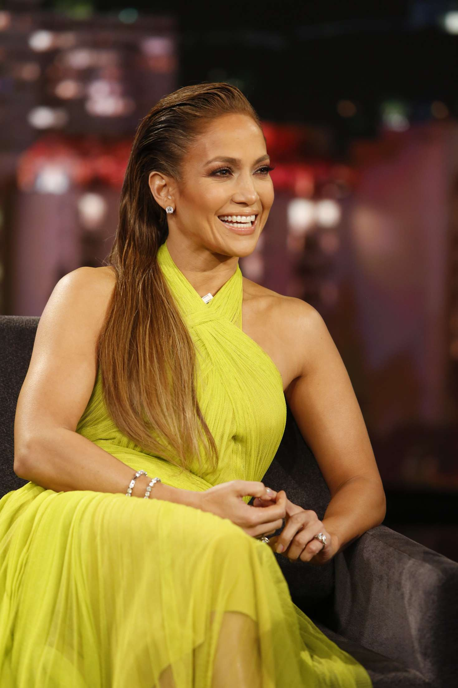 Jennifer Lopez - Visits 'Jimmy Kimmel Live!' in Los Angeles