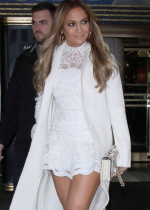 Jennifer Lopez Visits the TV Show 'Today' on NBC Studios in NYC