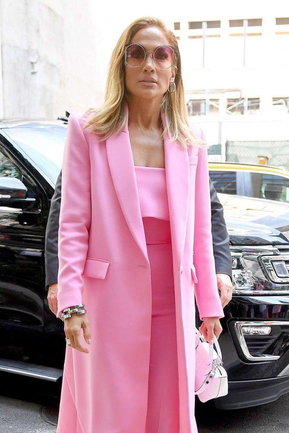 Jennifer Lopez 2019 : Jennifer Lopez – Wearing all pink business suit-05