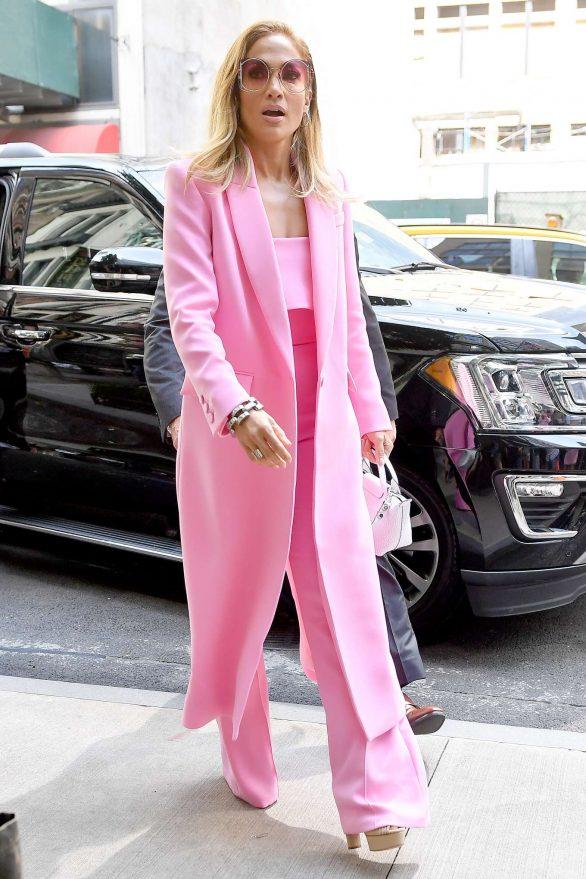 Jennifer Lopez 2019 : Jennifer Lopez – Wearing all pink business suit-15