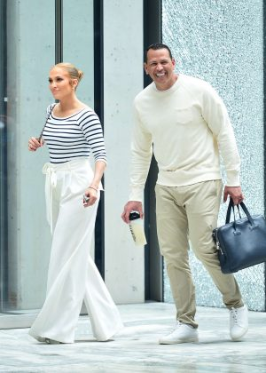 Jennifer Lopez with Alex Rodriguez - Out in New York City