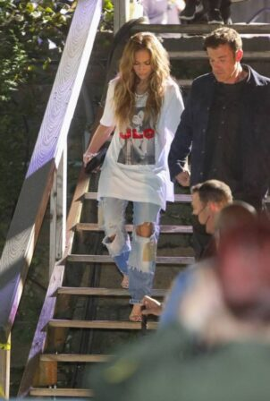 Jennifer Lopez - With Ben Affleck depart the Global Citizen Live Festival in NYC