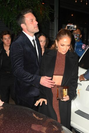 Jennifer Lopez - With Ben Affleck leave the Last duel after-party at The Bowery Hotel in NYC
