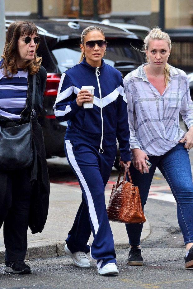 Jennifer Lopez with friends out in New York City -01