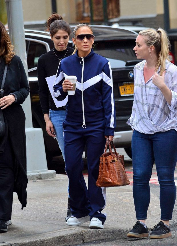 Jennifer Lopez with friends out in New York City
