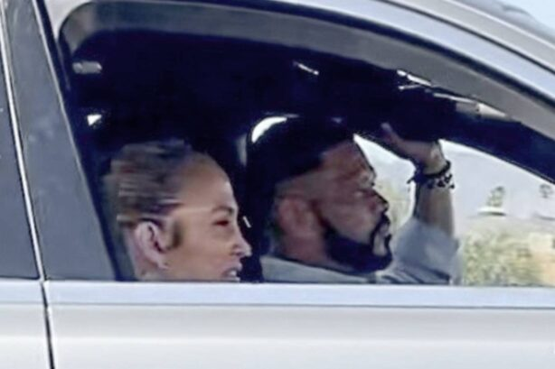 Jennifer Lopez - With her manager Benny Medina in Burbank