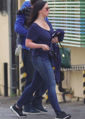 Jennifer Love Hewitt in Jeans - Out in Brentwood