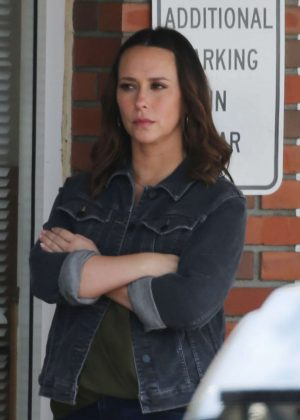 Jennifer Love Hewitt on the set of '9-1-1' in Los Angeles