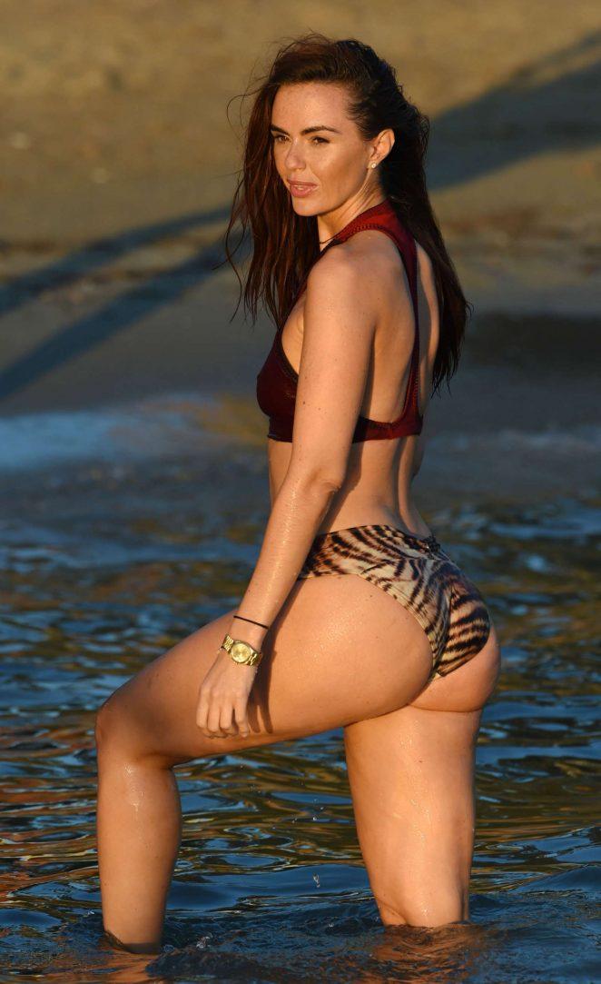 Jennifer Metcalfe in Bikini Bottoms on holiday in Ibiza