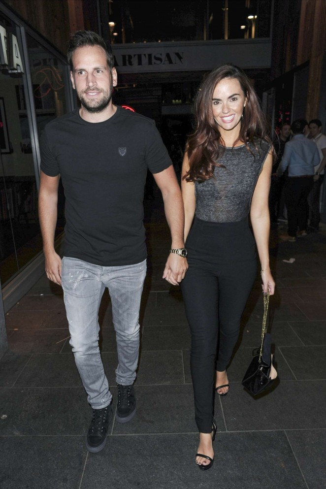 Jennifer Metcalfe Night out in Manchester