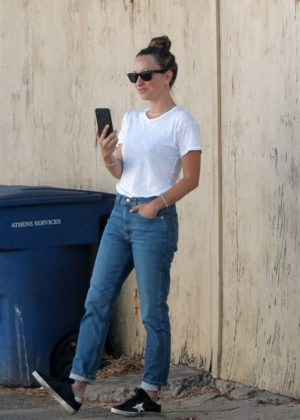 Jennifer Meyer in Jeans out in Beverly Hills