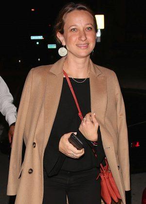 Jennifer Meyer - Leaves dinner in West Hollywood