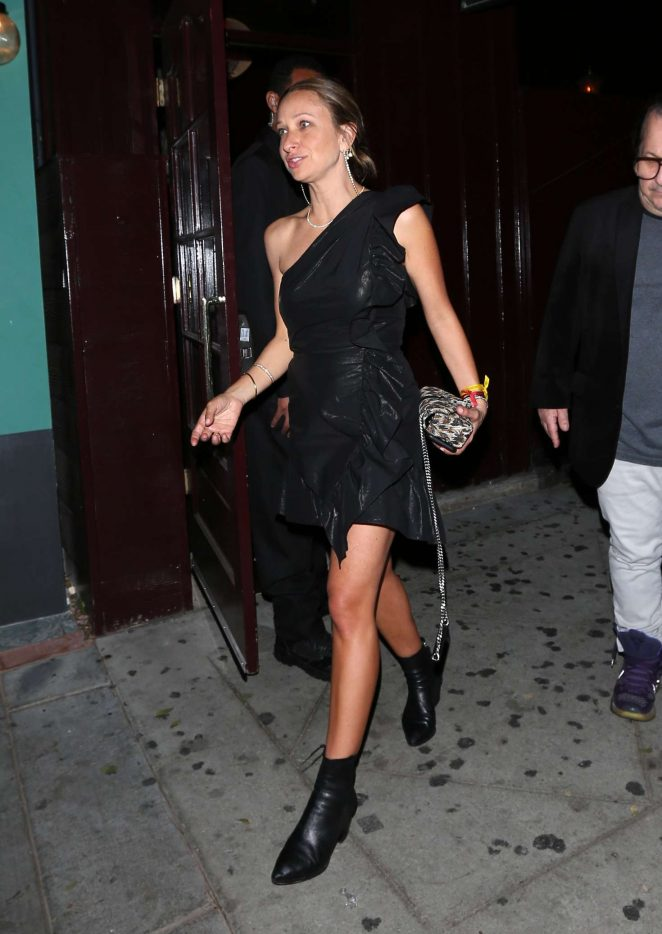 Jennifer Meyer Leaves the Peppermint club in West Hollywood