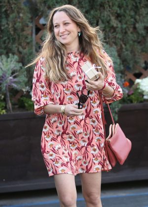 Jennifer Meyer - Seen in a patterned dress while out in Beverly Hills
