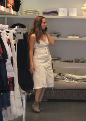 Jennifer Meyer Shopping at Jill Roberts Boutique in Beverly Hills