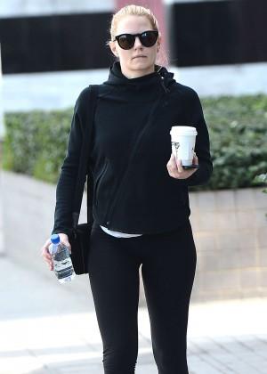 Jennifer Morrison in Tights Leggings Out in LA