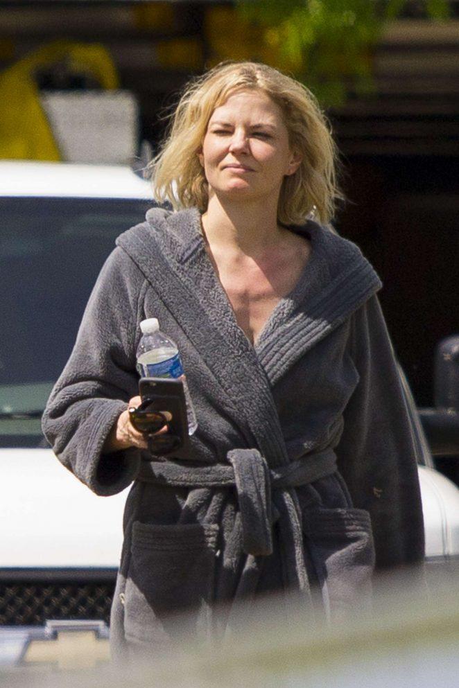 Jennifer Morrison on the set of 'Back Roads'