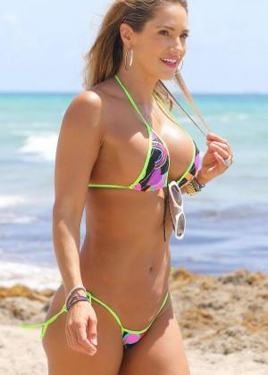 Jennifer Nicole Lee in Bikini on the beach in Miami