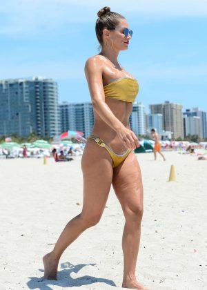 Jennifer Nicole Lee in Gold Bikini 2016 -01
