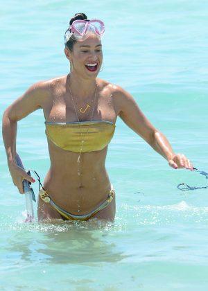 Jennifer Nicole Lee in Gold Bikini 2016 -03