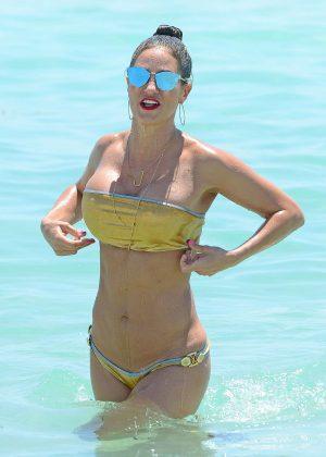 Jennifer Nicole Lee in Gold Bikini 2016 -04