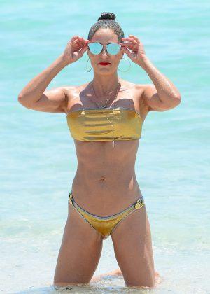 Jennifer Nicole Lee in Gold Bikini 2016 -13