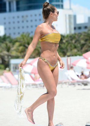 Jennifer Nicole Lee in Gold Bikini 2016 -18