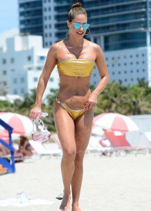 Jennifer Nicole Lee in Gold Bikini 2016 -25